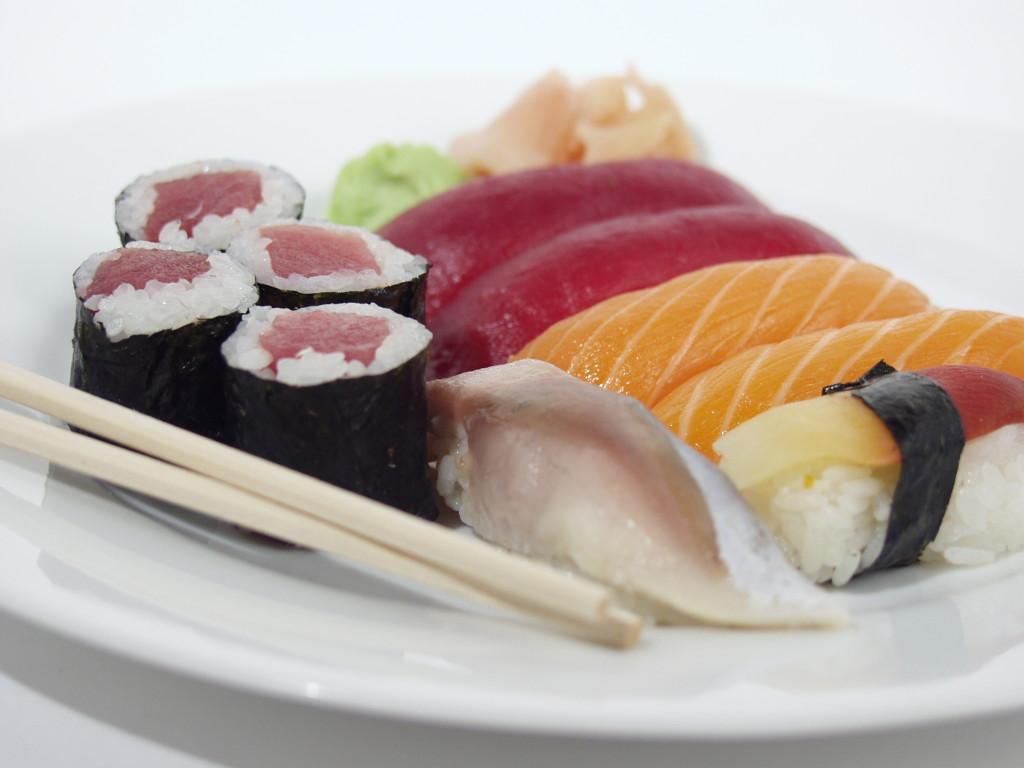 Presentación de sushi