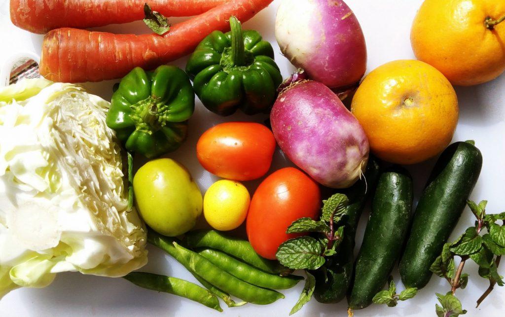 Higienizar las frutas y verduras frescas